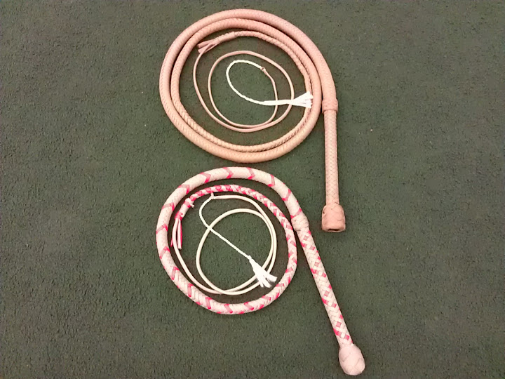 A couple of the first whips I made
